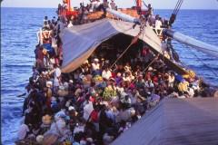 "the deck of ""The Freida"""