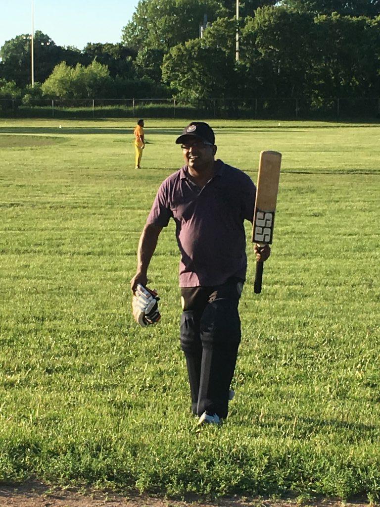 Sandesh from PCC scored 71 runs vs Royal Shields