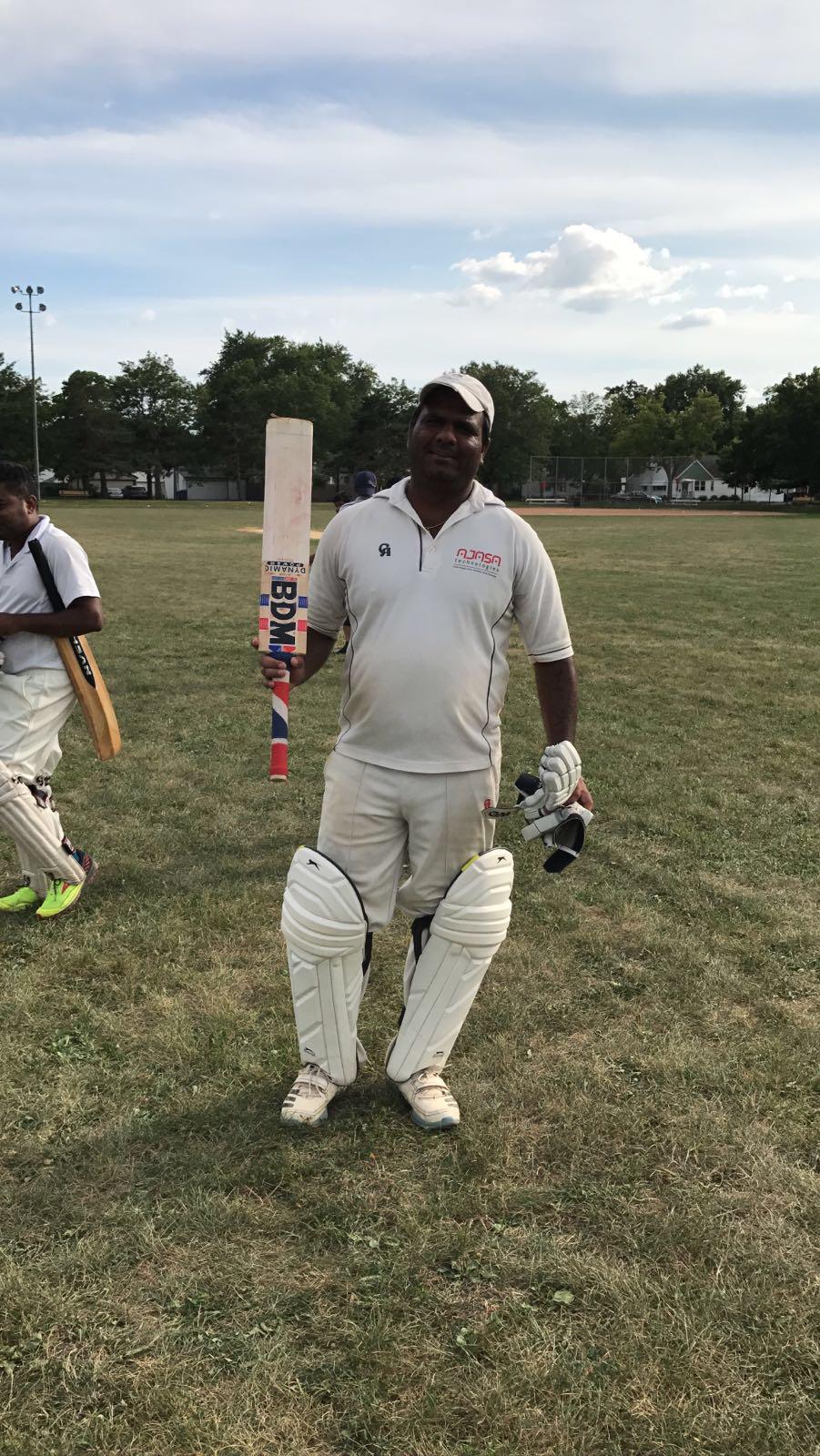 Naveen from Stallions scored unbeaten 108