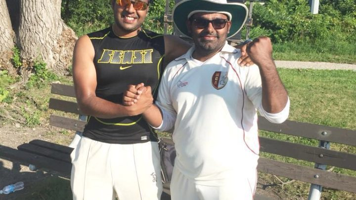 Amit's unbeaten 40 runs and Pratik's 4 valuable wickets gave Royal Shields a victory!