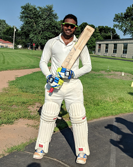 Sathish scored 102 not out!