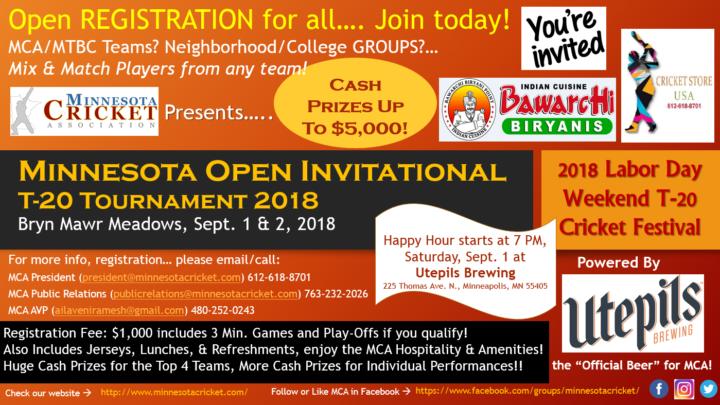 2018 Minnesota Open Invitational T-20 Tournament