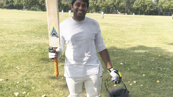 Vikram's all-round performance – 50 runs and 3 wickets