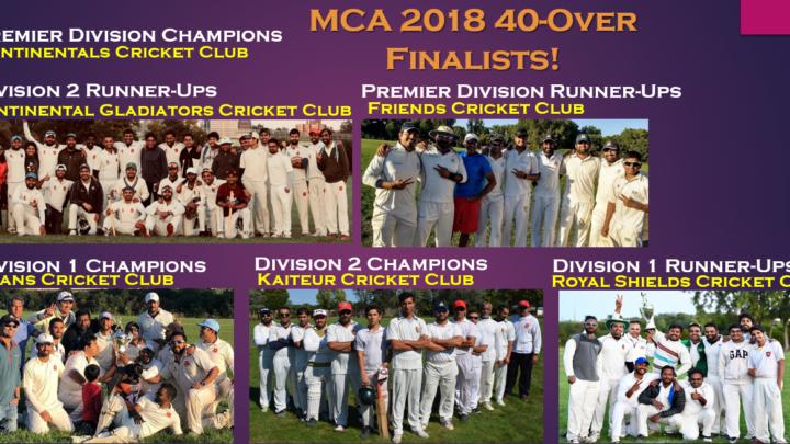 2018 MCA 40-Over Champions!