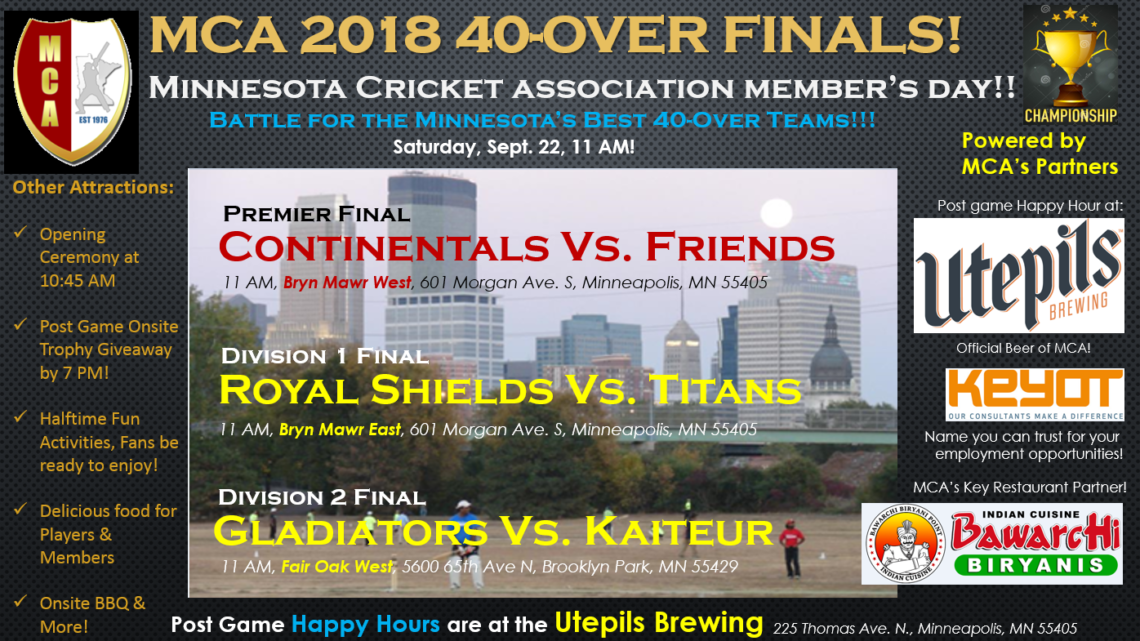 MCA 2018 40-Over Finalists