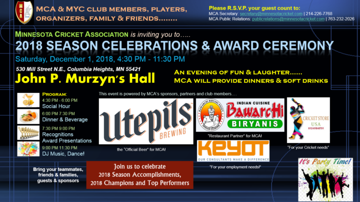 2018 Banquet, Season Celebrations & Award Ceremony