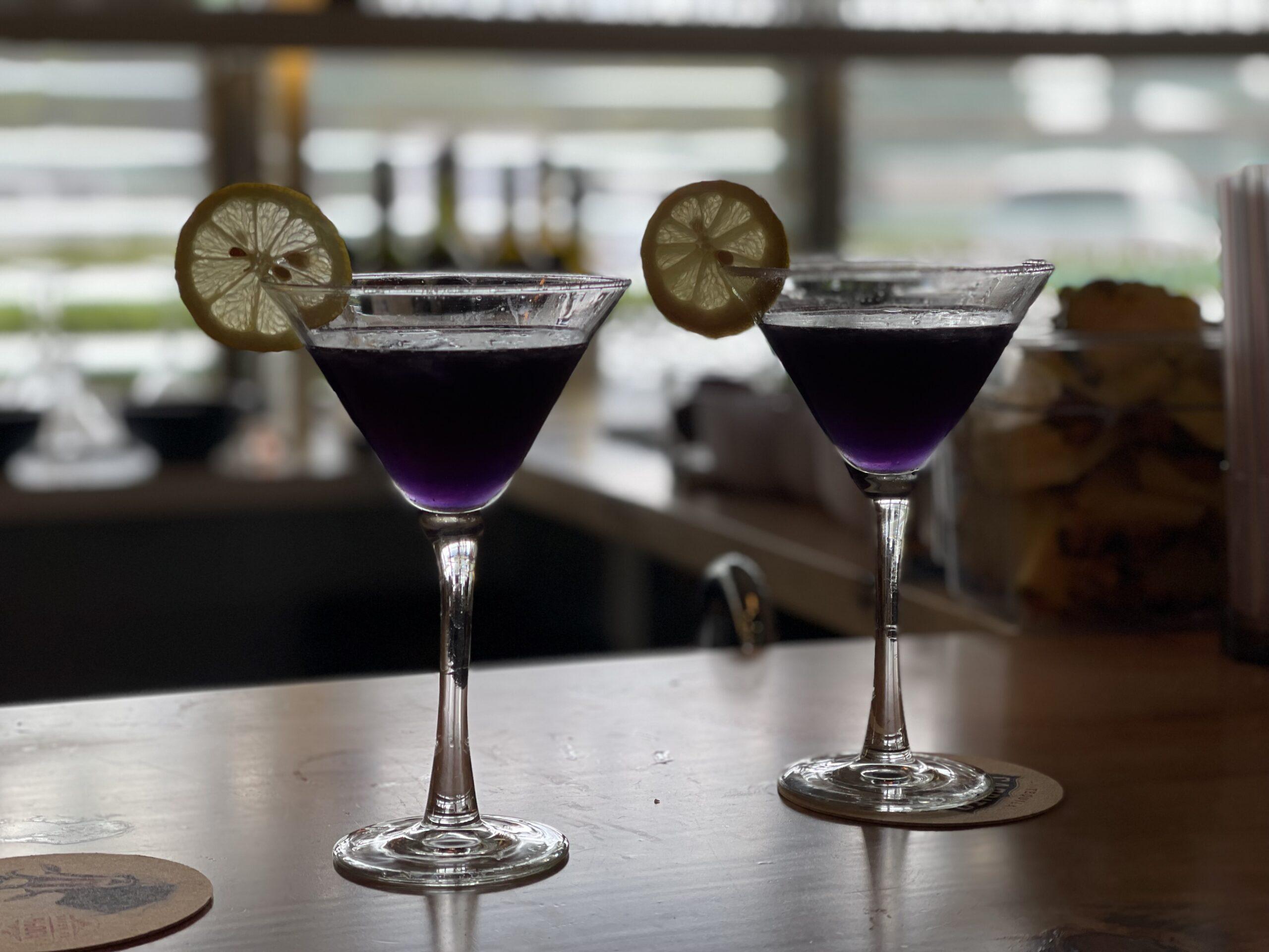ube lemon drop forc craft cocktails