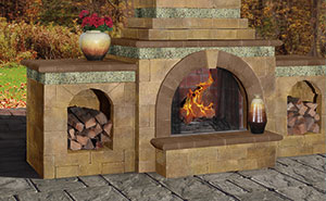 Gracefully Arched Hearth Opening
