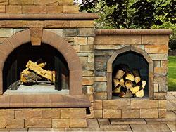 Stone Veneer Optional Firewood Box Extension