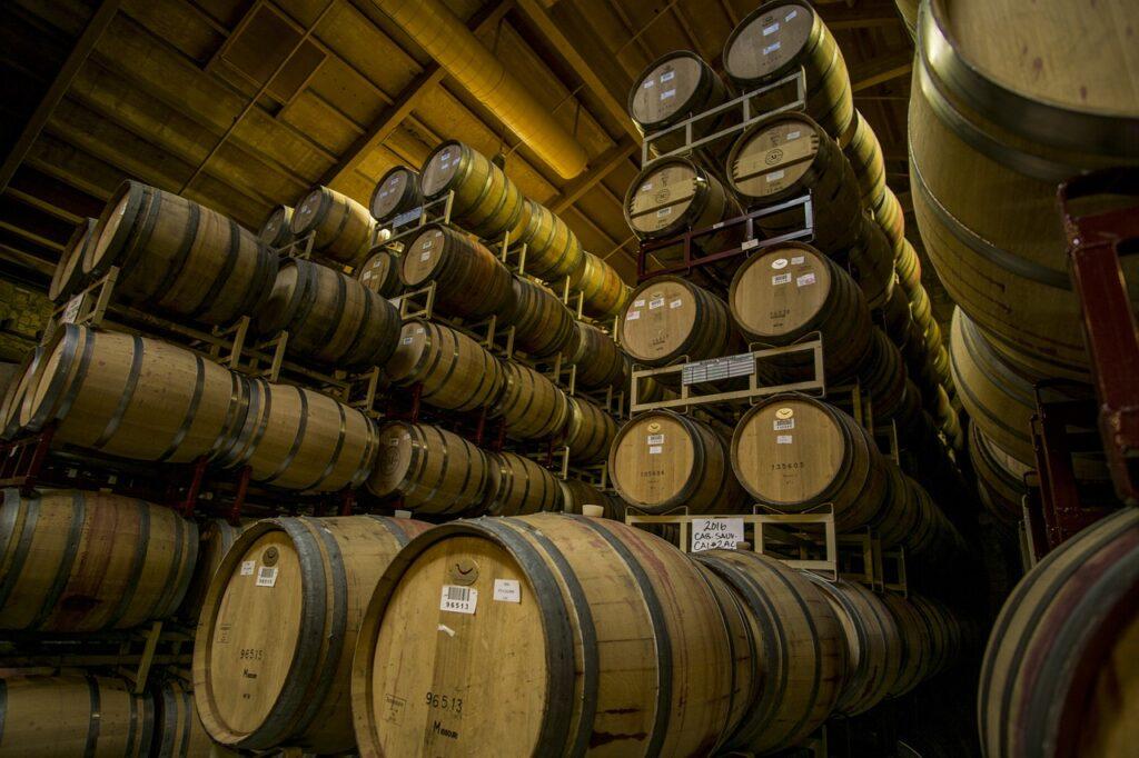 wine barrels, barrels, wine