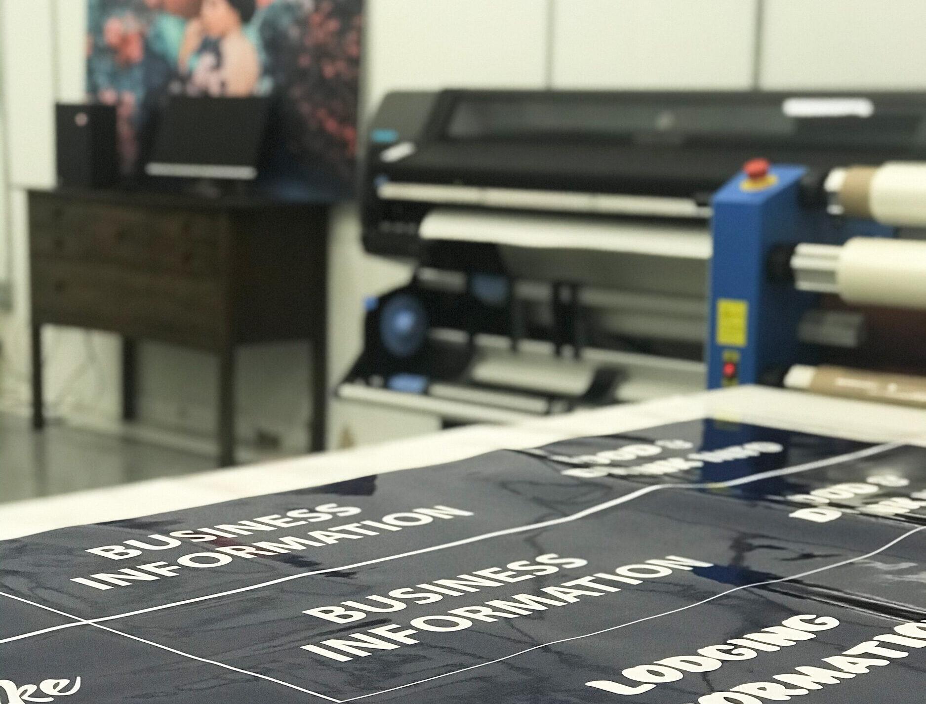 Raven Lake Studio Wide format printer