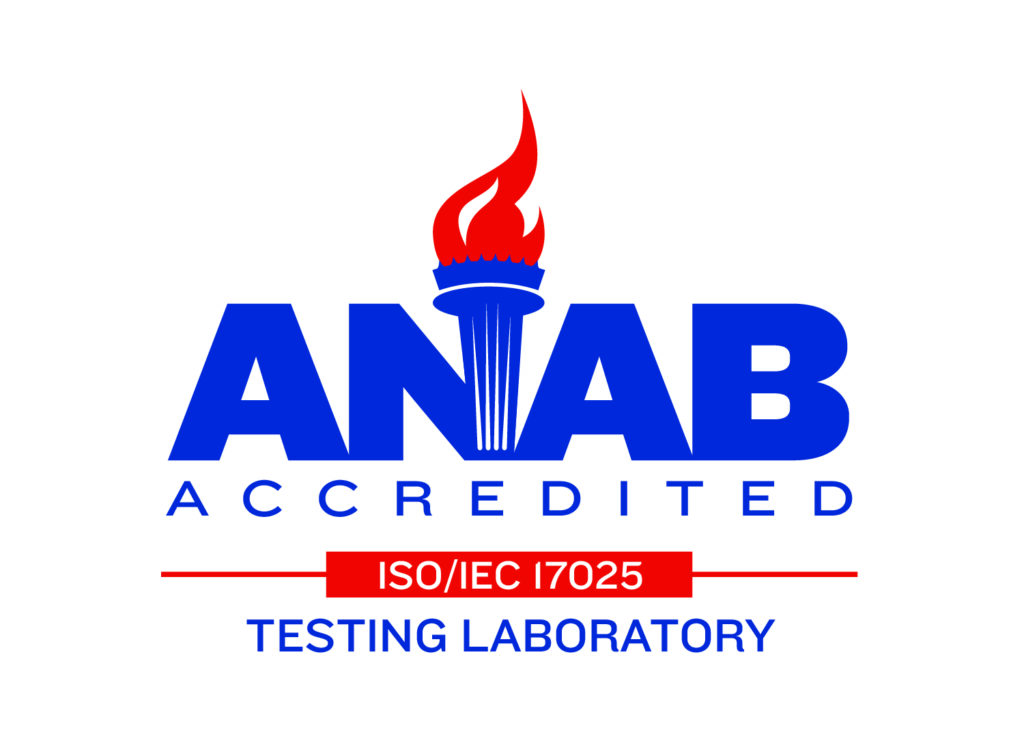 ANAB ISO 17025 Accredited Logo