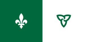 Drapeau Franco-Ontarien Franco-Ontarian Flag