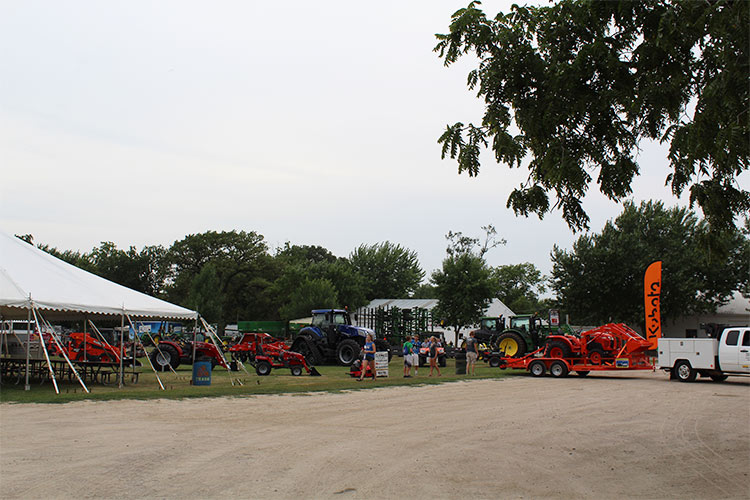 farm implements on display