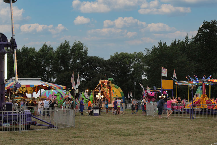 midway at the fairgrounds