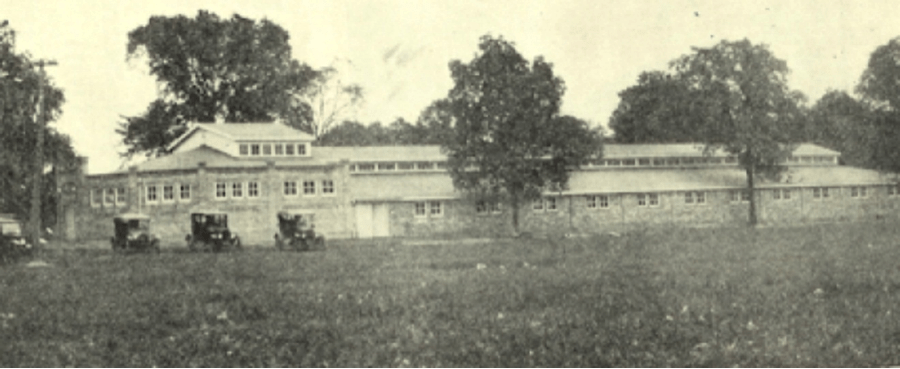 old picture of horse barn