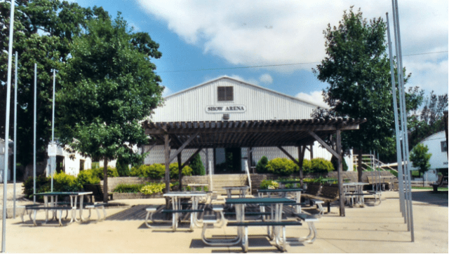 plaza at fairgrounds