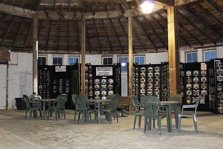 inside of sales pavilion
