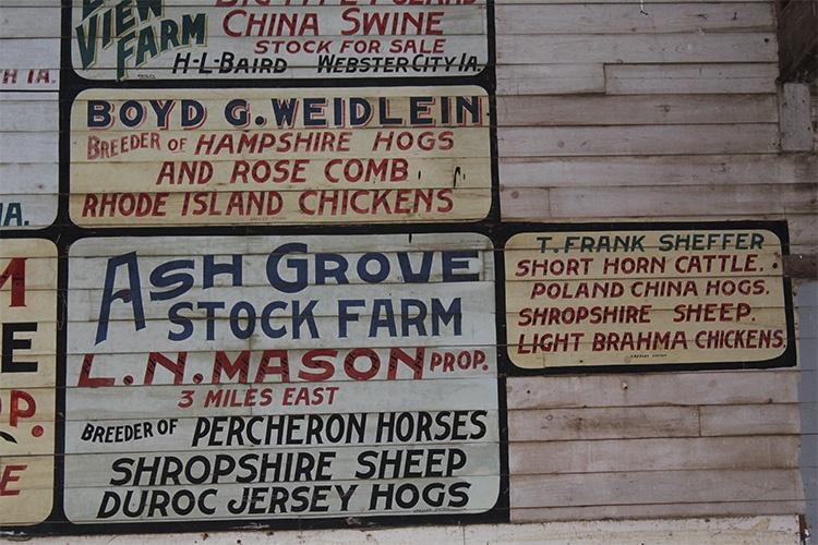 signage in sales pavilion
