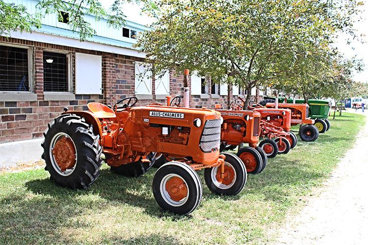 tractors on display at fair