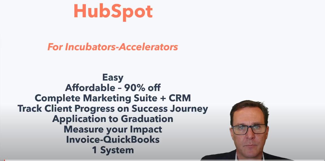 HubSpot to run your incubator - accelerator