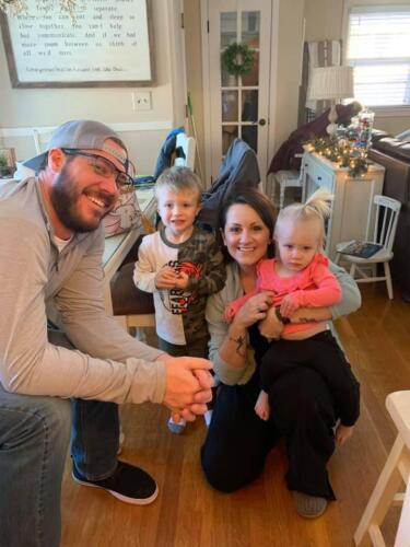 Us with our niece Abby and our nephew Harrison!
