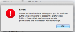 Unable to launch Adobe due to sufficient permissions