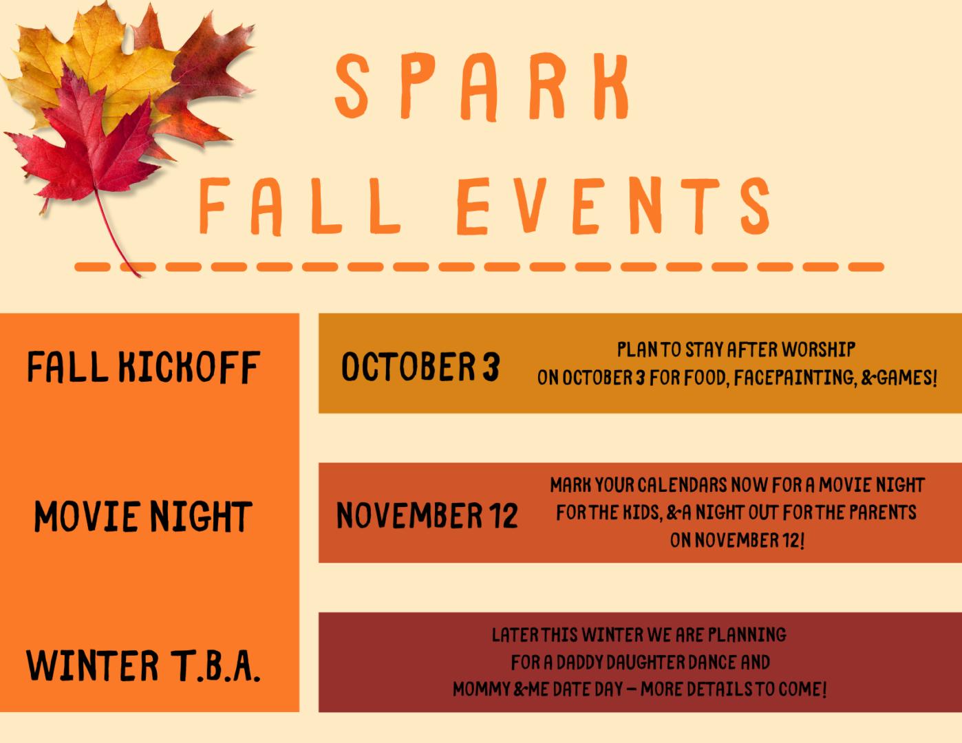Spark Schedule