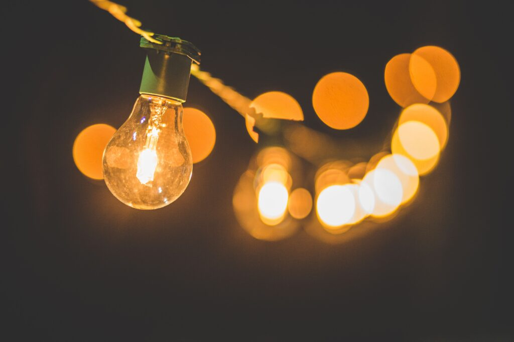 This is a picture of a light bulb to illustrate a light bulb moment.
