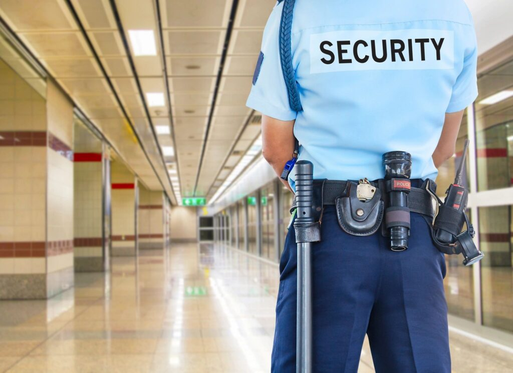 The image of the security guard emphasizes how an NDA protects your ideas.