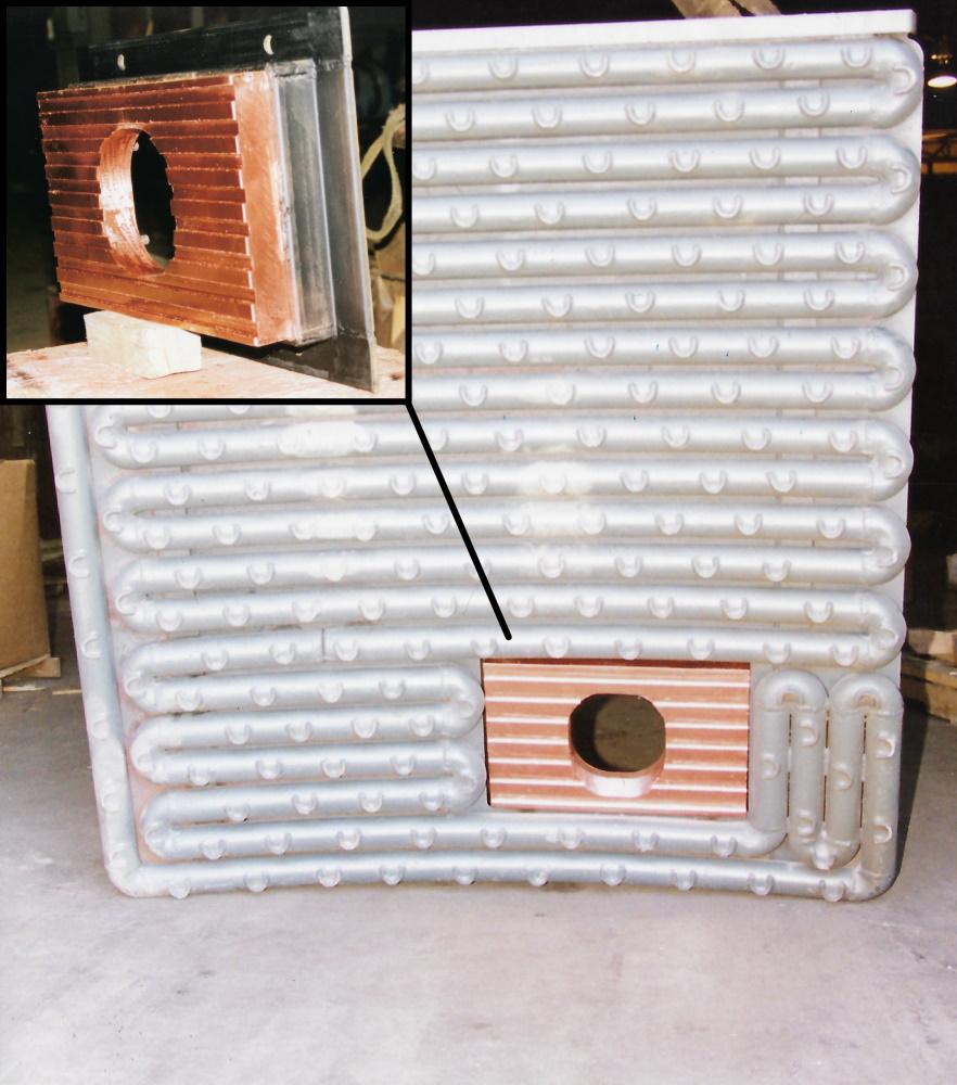 Burner Panel Steel