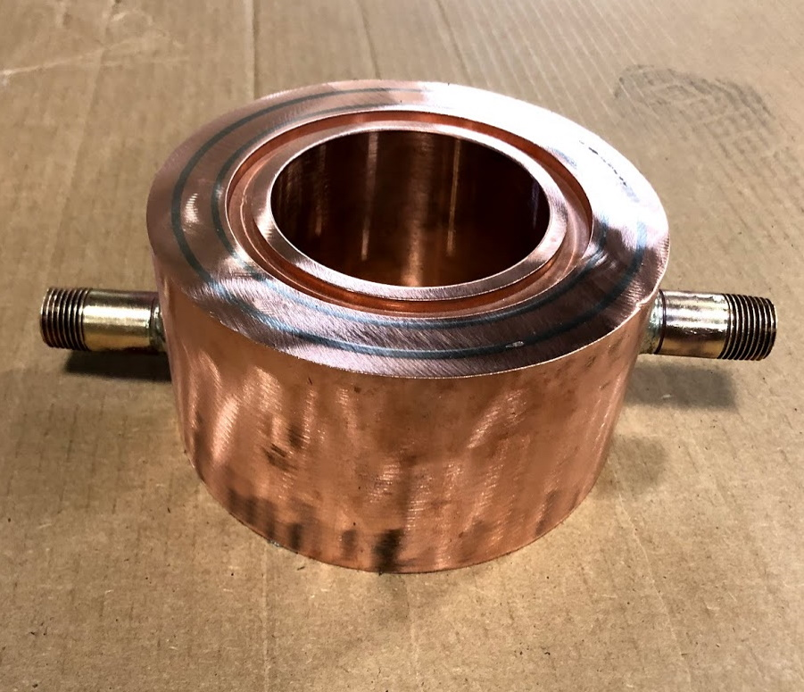 Fabricated Copper Graphite Cooling Block