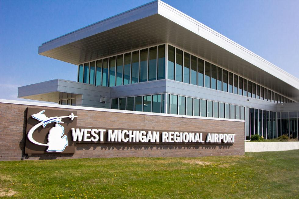West Michigan Regional Airport Sign