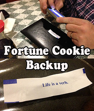 How to backup a fortune cookie