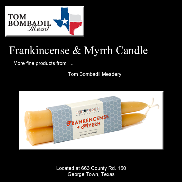Frankincense and Myrrh Beeswax Candles (2 Pack)