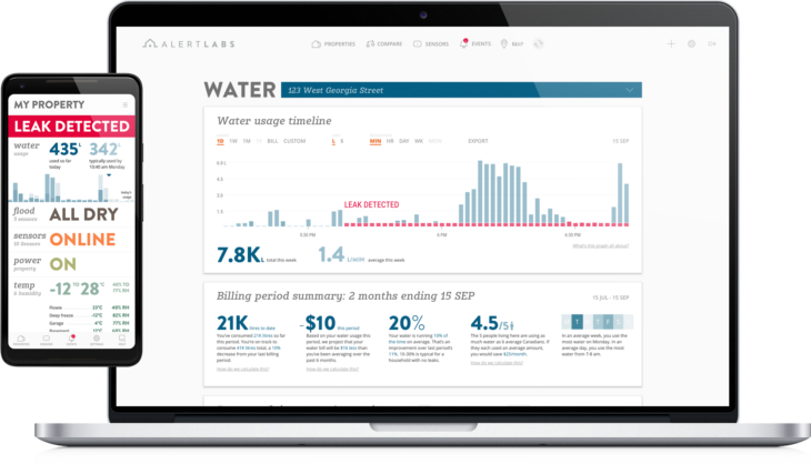 Alert Labs dashboard