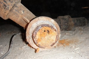 Rusted Cast Iron Drain Pipe