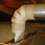 Asbestos covered duct