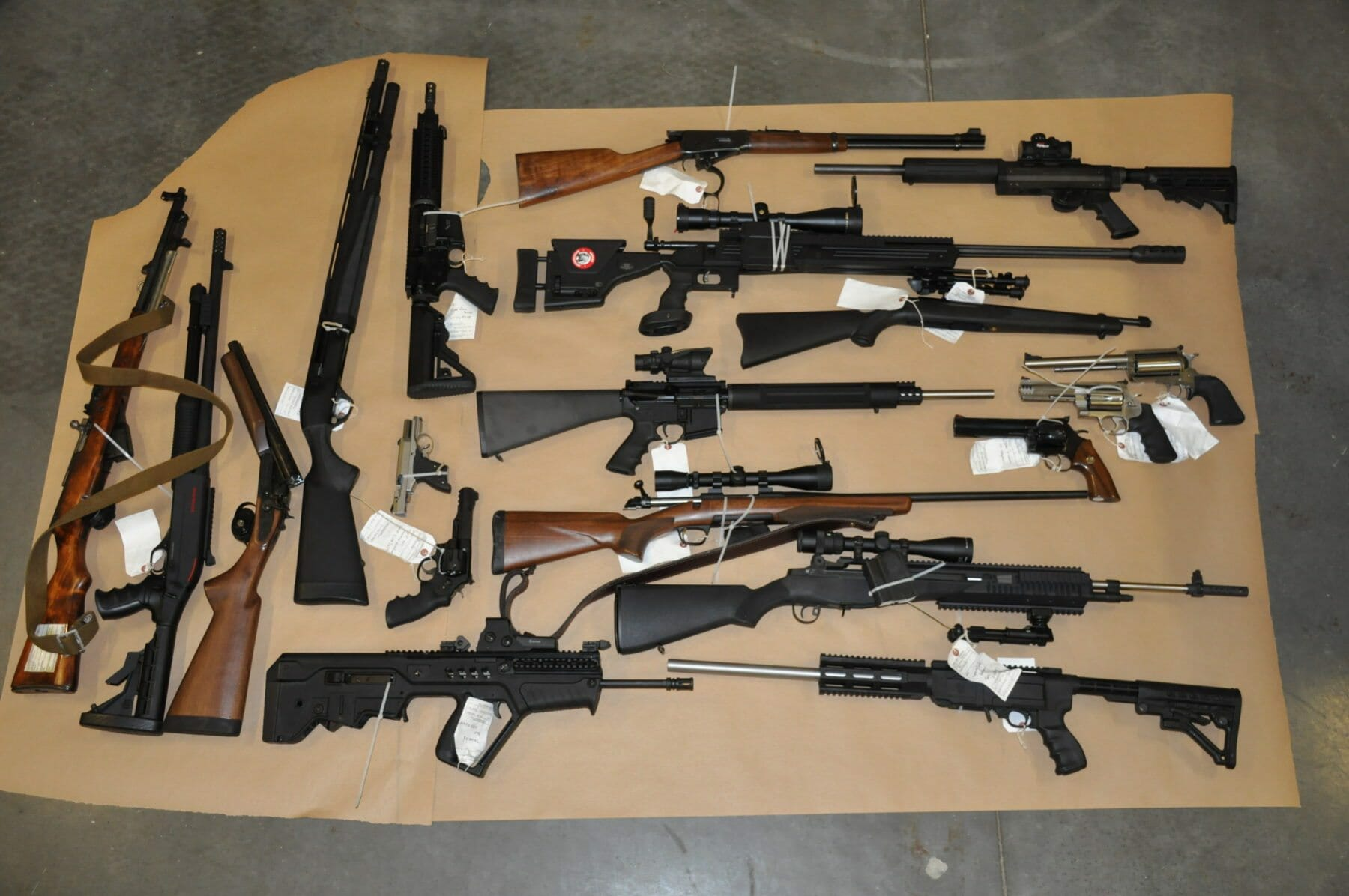 Guns Seized After Courtenay Man Arrested For Firearms-Related Offences