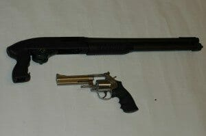 Magnum and shotgun