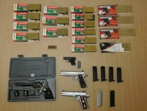 Firearms & Ammo from vehicle