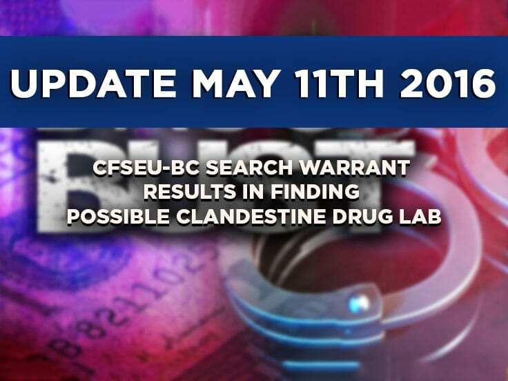 Update: CFSEU-BC Search Warrant Results From Alleged Clandestine Lab