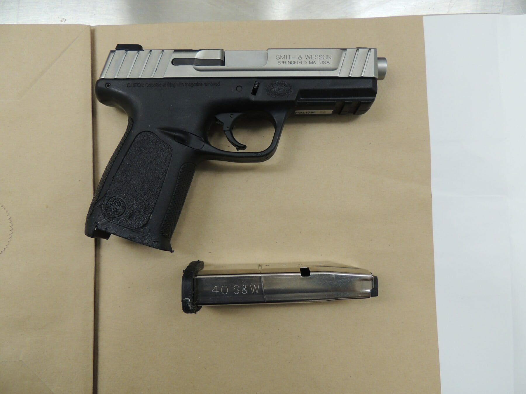 .40 calibre handgun