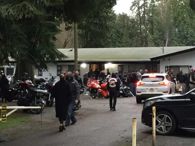 Bikers come from near and far for funeral of murdered B C