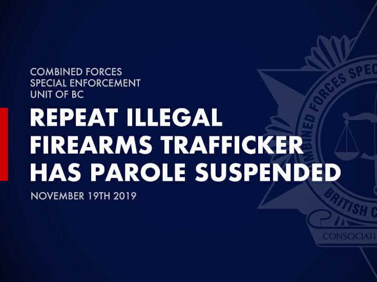 Repeat Illegal Firearms Trafficker has Parole Suspended