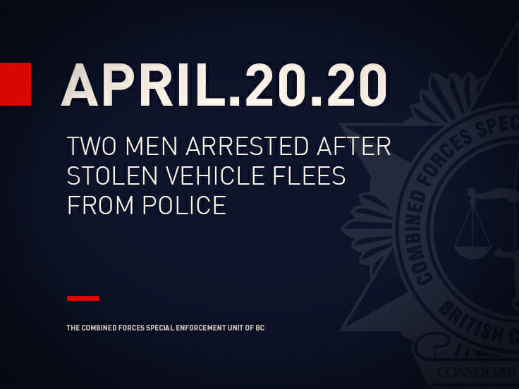 Two Men Arrested After Stolen Vehicle Flees from Police
