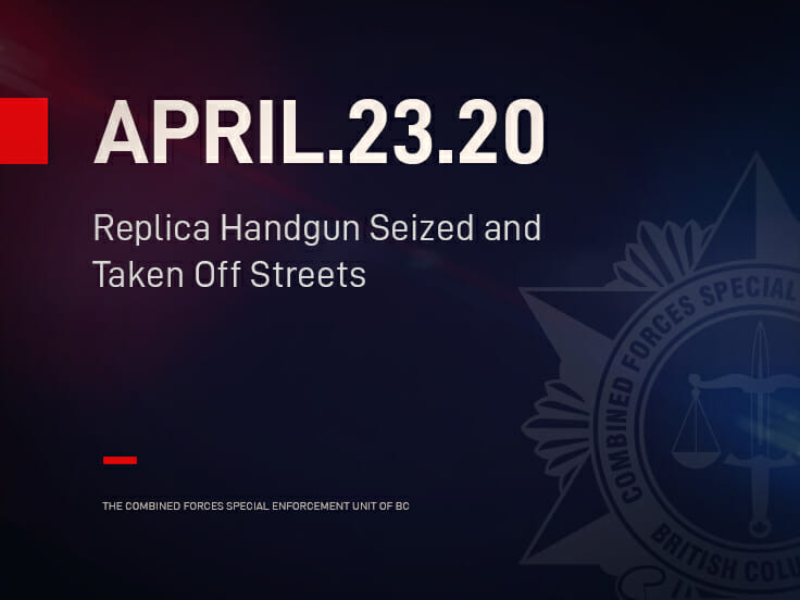 Replica Handgun Seized and Taken Off Streets