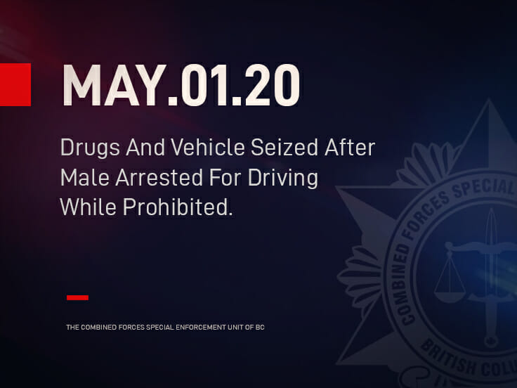 Drugs And Vehicle Seized After Male Arrested For Driving While Prohibited