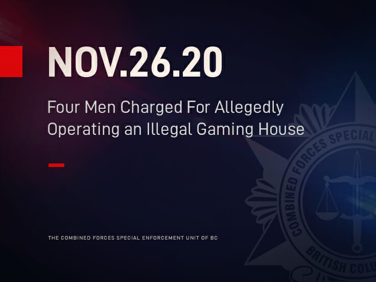 Four Men Charged For Allegedly Operating an Illegal Gaming House