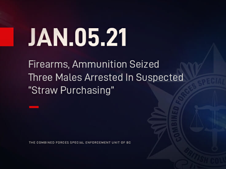 """Firearms, Ammunition Seized And Three Males Arrested In Suspected """"Straw Purchasing"""""""